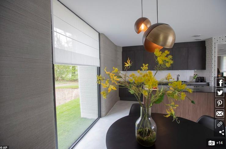 Casa impresa 3D en Holanda por dentro